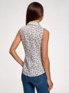 Рубашка базовая без рукавов oodji #SECTION_NAME# (белый), 14905001-1B/12836/1070F - вид 3