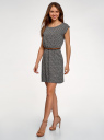 Платье вискозное без рукавов oodji #SECTION_NAME# (черный), 11910073B/26346/2912G - вид 6