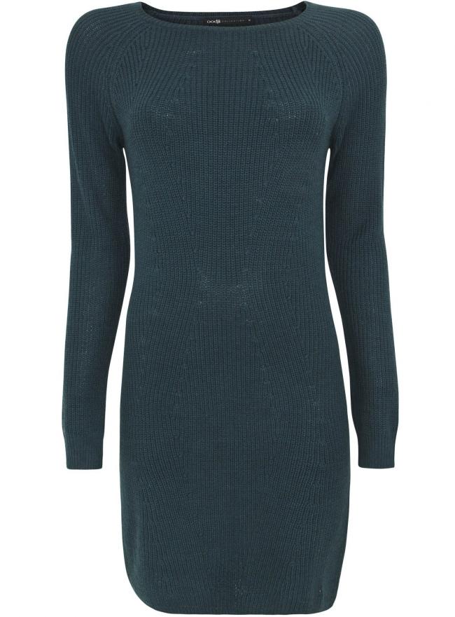 Трикотажное платье oodji для женщины (зеленый), 73907055/43559/6C00N
