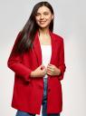 Жакет свободного кроя на пуговице oodji для женщины (красный), 11207014/46955/4500N
