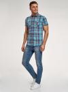 Рубашка хлопковая с короткими рукавами и нагрудными карманами oodji #SECTION_NAME# (синий), 3L410152M/49928N/7545C - вид 6