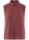 Топ базовый из струящейся ткани oodji для женщины (красный), 14911006B/43414/4910D