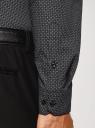 Рубашка хлопковая с нагрудным карманом oodji #SECTION_NAME# (серый), 3L110329M-1/44425N/2925G - вид 5