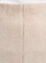 Юбка-карандаш из искусственной замши oodji для женщины (бежевый), 18H01009/47301/2000N