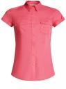 Рубашка базовая с коротким рукавом oodji #SECTION_NAME# (розовый), 11402084-5B/45510/4D00N