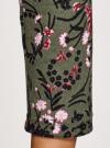 Платье трикотажное с вырезом-капелькой на спине oodji #SECTION_NAME# (зеленый), 24001070-5/15640/6641F - вид 5