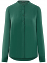 Блузка вискозная А-образного силуэта oodji #SECTION_NAME# (зеленый), 21411113B/42540/6E01N