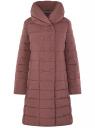 Пальто стеганое с объемным воротником oodji #SECTION_NAME# (красный), 10204049-1B/24771/3102N