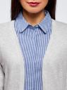 Кардиган вязаный без застежки oodji для женщины (серый), 63212581-1B/46629/2000M