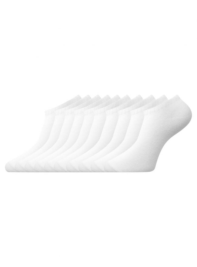 Комплект укороченных носков (10 пар) oodji для женщины (белый), 57102433T10/47469/1000N