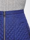 Юбка из фактурной ткани с молнией спереди oodji #SECTION_NAME# (синий), 11600410/38325/7501N - вид 5