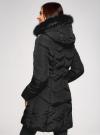 Куртка удлиненная с капюшоном oodji для женщины (черный), 20204047/45934/2901N - вид 3