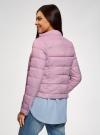 Куртка стеганая с воротником-стойкой oodji для женщины (фиолетовый), 10203038-5B/47020/8000N - вид 3