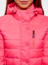 Куртка стеганая с капюшоном oodji #SECTION_NAME# (розовый), 10204053/47173/4D00N - вид 4