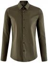 Рубашка базовая приталенная oodji для мужчины (зеленый), 3B140000M/34146N/6600N