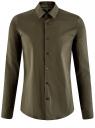 Рубашка базовая приталенная oodji #SECTION_NAME# (зеленый), 3B140000M/34146N/6600N