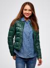 Куртка стеганая с круглым вырезом oodji #SECTION_NAME# (зеленый), 10203050-2B/33445/6900N - вид 2