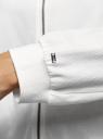 Куртка трикотажная на молнии oodji для женщины (белый), 16901095/50008/1200N