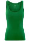 Майка базовая oodji для женщины (зеленый), 14315002B/46154/6E00N - вид 6