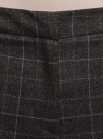 Брюки на эластичном поясе с декоративными карманами oodji для женщины (серый), 11706208-3/45709/2559C