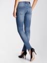 Джинсы skinny базовые oodji для женщины (синий), 12103136/45369/7500W