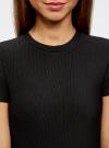 Платье трикотажное с коротким рукавом oodji для женщины (черный), 14011007/45262/2900N - вид 4