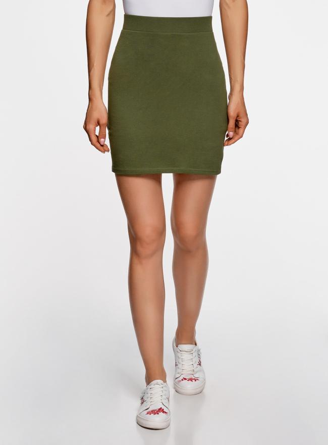 Комплект трикотажных юбок (3 штуки) oodji для женщины (зеленый), 14101001T3/46159/6900N