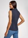 Рубашка базовая без рукавов oodji #SECTION_NAME# (синий), 11405063-4B/45510/7900N - вид 3