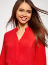 Блузка вискозная прямого силуэта oodji #SECTION_NAME# (красный), 21400394-1B/24681/4502N - вид 4
