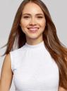Кроп-топ кружевной oodji для женщины (белый), 15F05039/49972/1000L