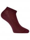 Комплект ажурных носков (3 пары) oodji #SECTION_NAME# (красный), 57102702T3/48022/7 - вид 3