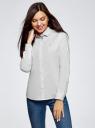Рубашка принтованная с вышивкой oodji для женщины (белый), 13K11008/43609/1029G