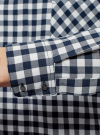 Рубашка свободного силуэта с регулировкой длины рукава oodji #SECTION_NAME# (синий), 11411099-1/43566/7912C - вид 5