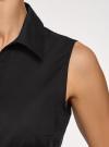 Рубашка базовая без рукавов oodji #SECTION_NAME# (черный), 14905001-1B/12836/2900N - вид 5