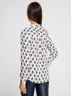 Блузка принтованная из вискозы с воротником-стойкой oodji #SECTION_NAME# (слоновая кость), 21411063-1/26346/1275E - вид 3