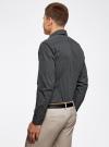 Рубашка хлопковая в мелкую графику oodji #SECTION_NAME# (черный), 3L110269M/44425N/2923G - вид 3