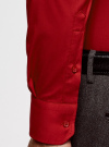 Рубашка базовая приталенная oodji для мужчины (красный), 3B140000M/34146N/4C00N - вид 5