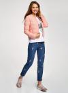Куртка стеганая с круглым вырезом oodji для женщины (розовый), 10203050-2B/47020/4001N - вид 6