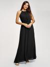 Платье макси с завязками на талии oodji для женщины (черный), 11911009/42629/2900N - вид 6