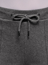 Брюки спортивные с надписью oodji #SECTION_NAME# (серый), 16701063-1/48881/2500Z - вид 4
