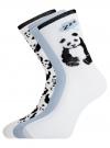 Комплект носков из 3 пар oodji #SECTION_NAME# (разноцветный), 57102905T3/47469/2 - вид 2