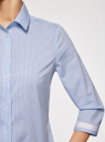 Блузка с контрастной отделкой и рукавом 3/4 oodji #SECTION_NAME# (синий), 13K03005-1/46440/1070O - вид 5