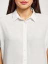 Блузка вискозная свободного силуэта oodji для женщины (белый), 11405139-1/24681/1200N