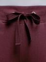 Брюки трикотажные с принтом и завязками oodji для женщины (красный), 16701040/42484/8812P