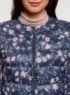 Куртка стеганая с круглым вырезом oodji для женщины (синий), 10203072B/42257/7919F - вид 4