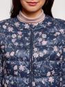 Куртка стеганая с круглым вырезом oodji #SECTION_NAME# (синий), 10203072B/42257/7919F - вид 4