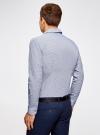 Рубашка приталенного силуэта принтованная oodji #SECTION_NAME# (синий), 3L110260M/19370N/7975G - вид 3