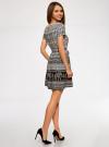 Платье принтованное из вискозы oodji #SECTION_NAME# (белый), 11900191-3/26346/1229E - вид 3