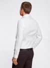 Рубашка базовая из фактурной ткани oodji #SECTION_NAME# (белый), 3B110017M/47184N/1000N - вид 3