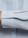 Блузка вискозная с нагрудными карманами oodji #SECTION_NAME# (синий), 11411127-1B/42807/7000N - вид 5